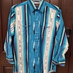 Panhandle Slim Western Snap Button Shirt 16.5/34